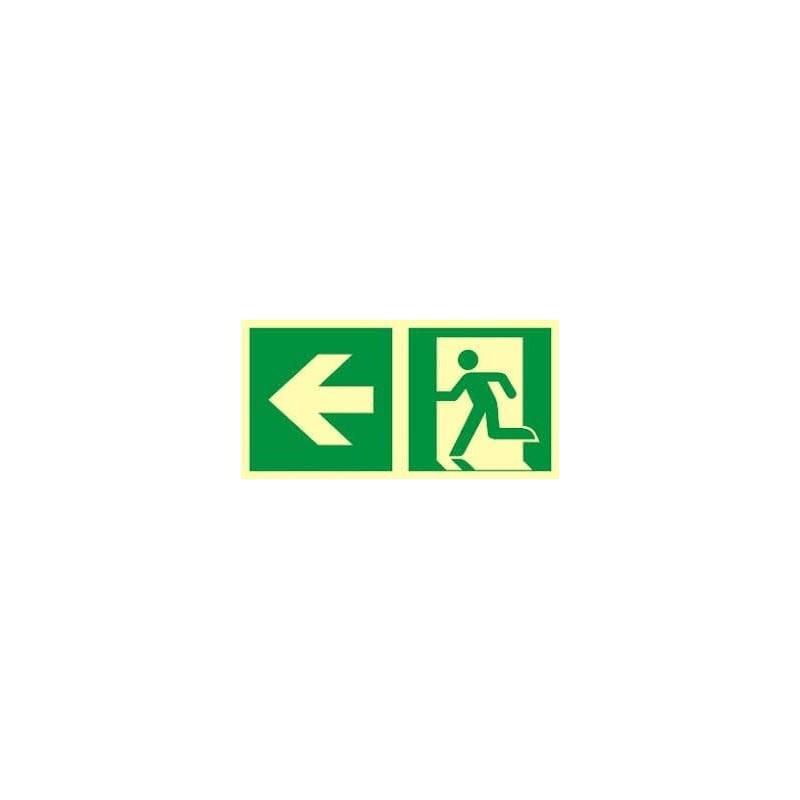 Kierunek do wyjścia ewakuacyjnego - w lewo zgodnie z ISO