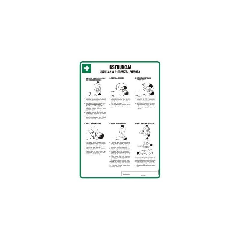 Instrukcja BHP udzielania pierwszej pomocy (obrazkowa)