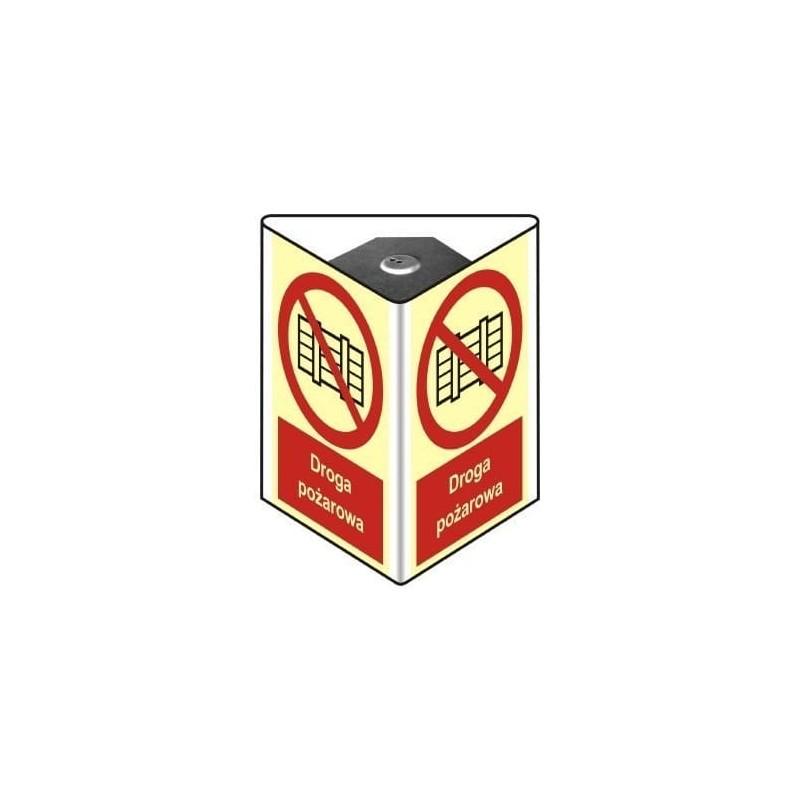 Znak Droga Pożarowa Nie zastawiać 3D 35x52 cm(przestrzenny)