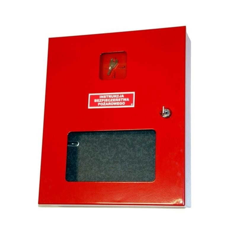 Szafka na instrukcję bezpieczeństwa pożarowego