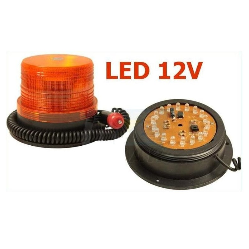 Lampa 100 LED na magnes 12-24V