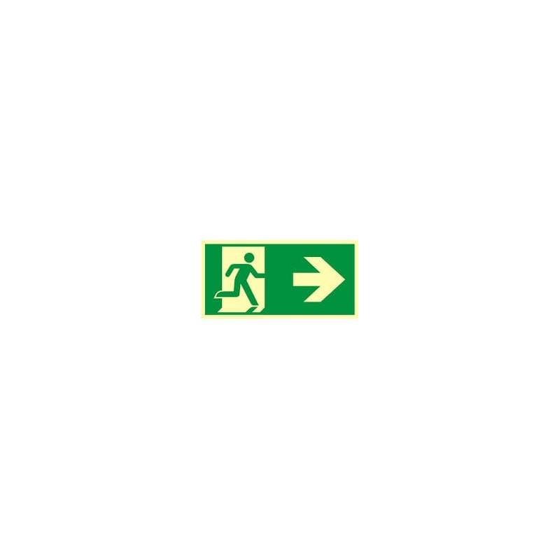 Kierunek do wyjścia ewakuacyjnego - w prawo zg. z  ISO 7010